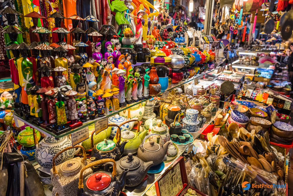 Colorful Ben Thanh Market - tips for first time visitors when traveling to vietnam
