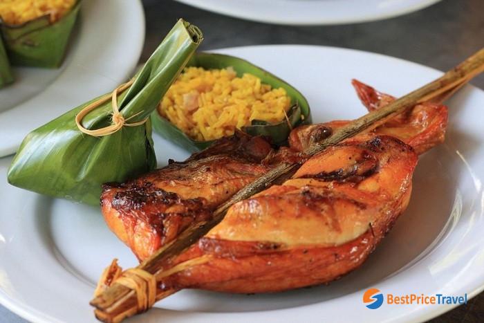 Savanakhet Chicken - interesting laos traditional dish