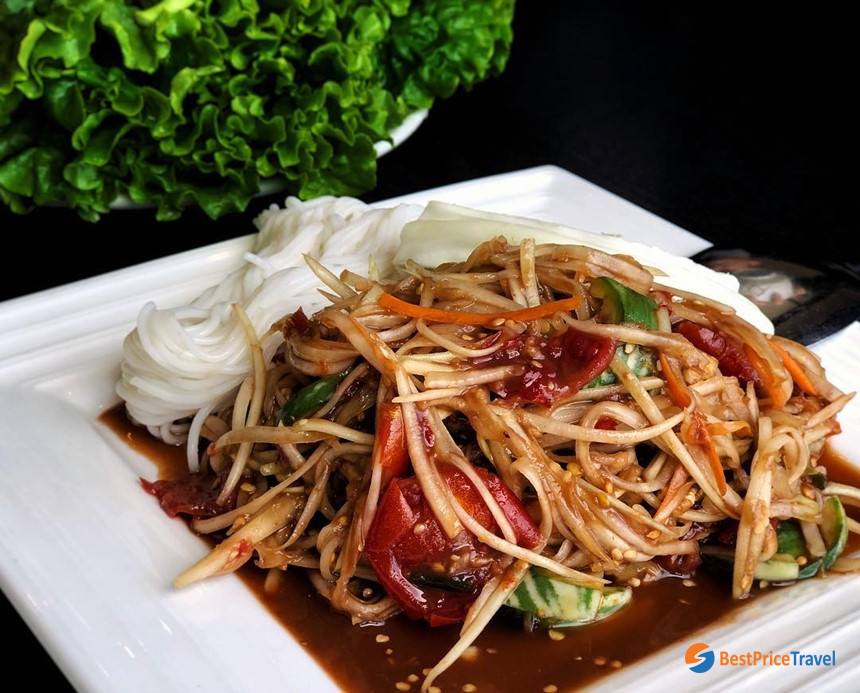 Tam Mak Houng - one of the best dishes in laos
