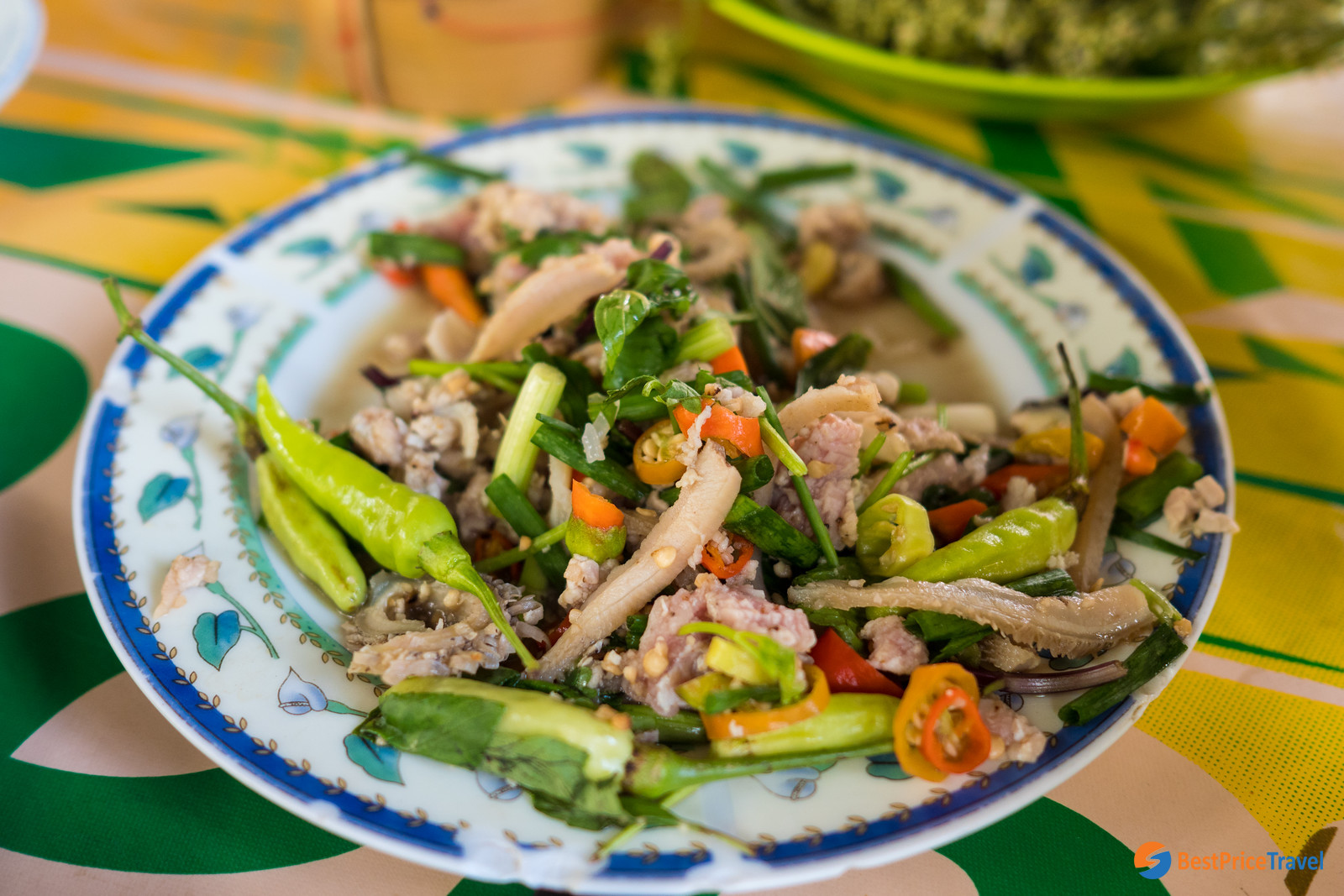 Laap - typical must-try food in laos