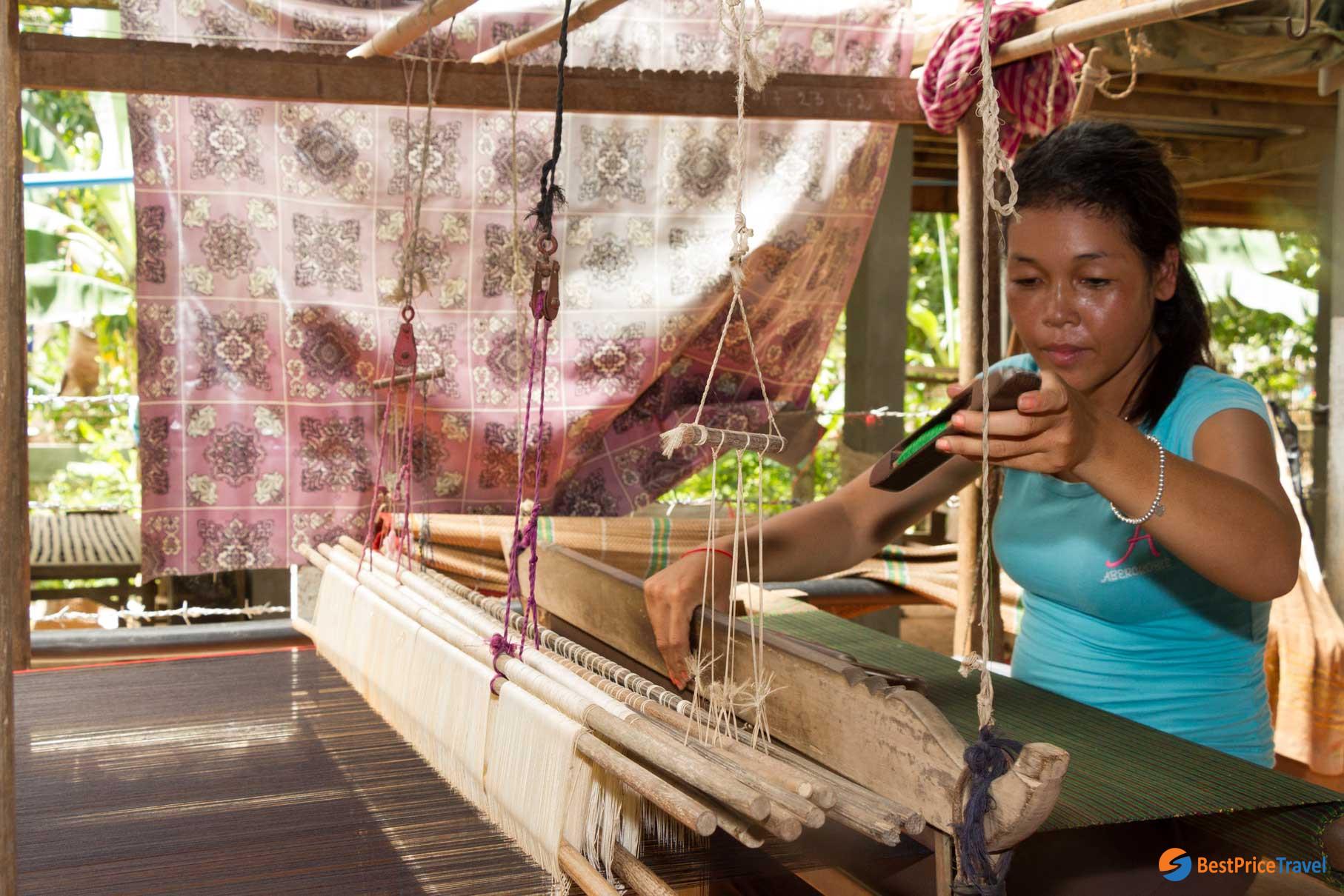 Chong Koh Cambodian silk village