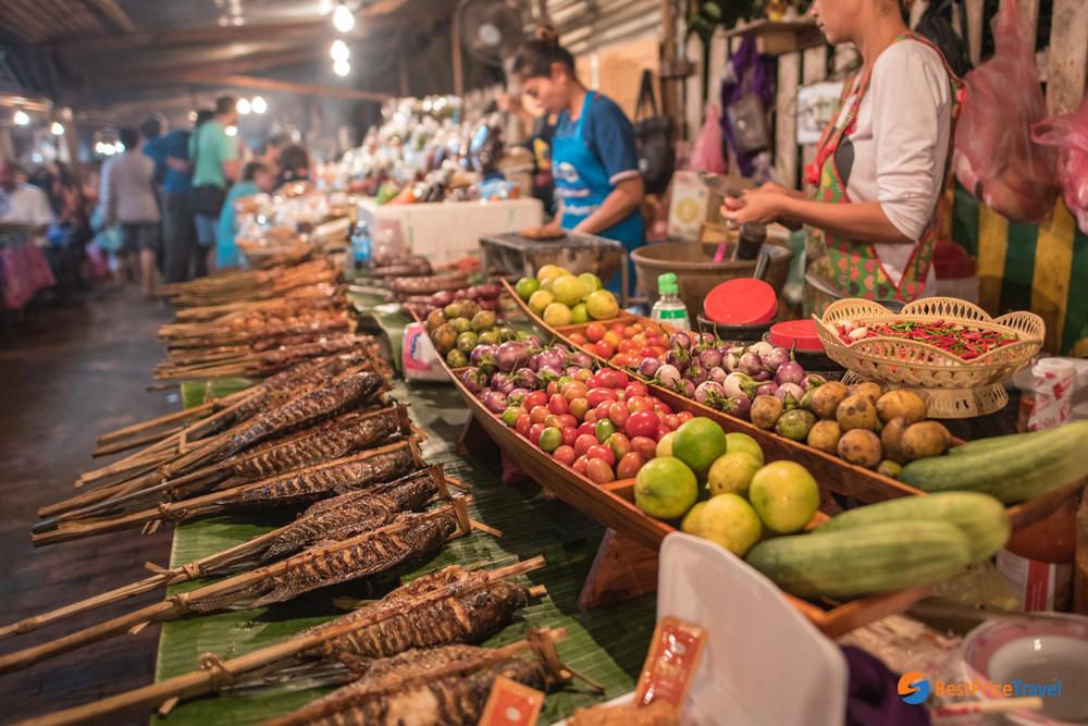 Street food in Luang Prabang, Laos