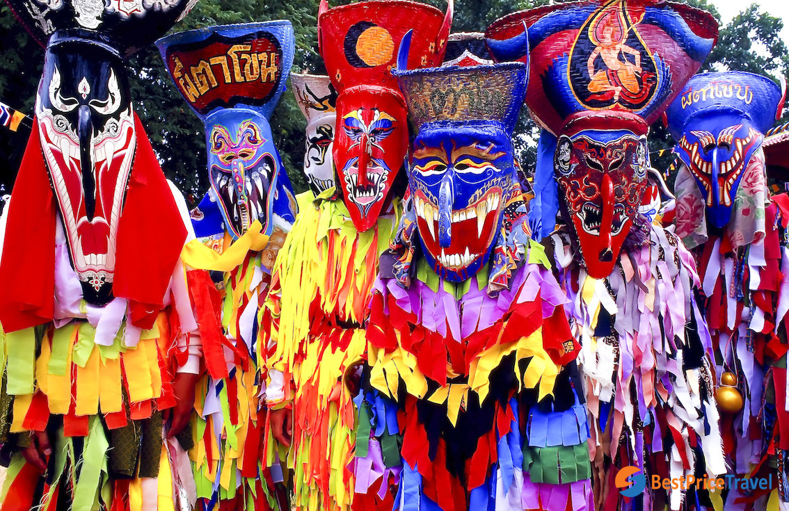 Devil Marks With Colorful Costume