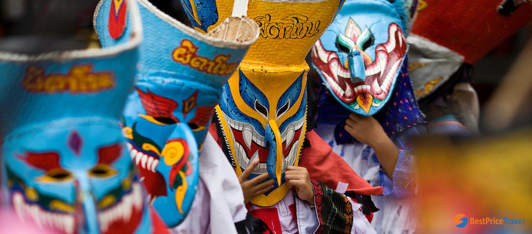 Phi Ta Khon festival in Thailand