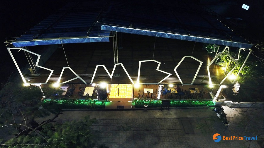 Nightlife Activities in Halong Bay with bamboo bar