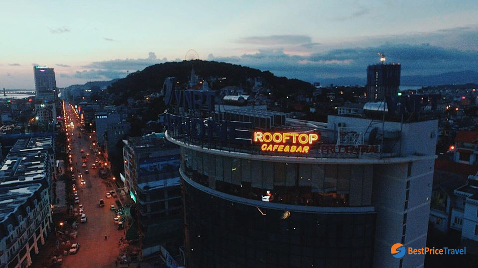 Nightlife Activities in Halong Bay with rooftop bar