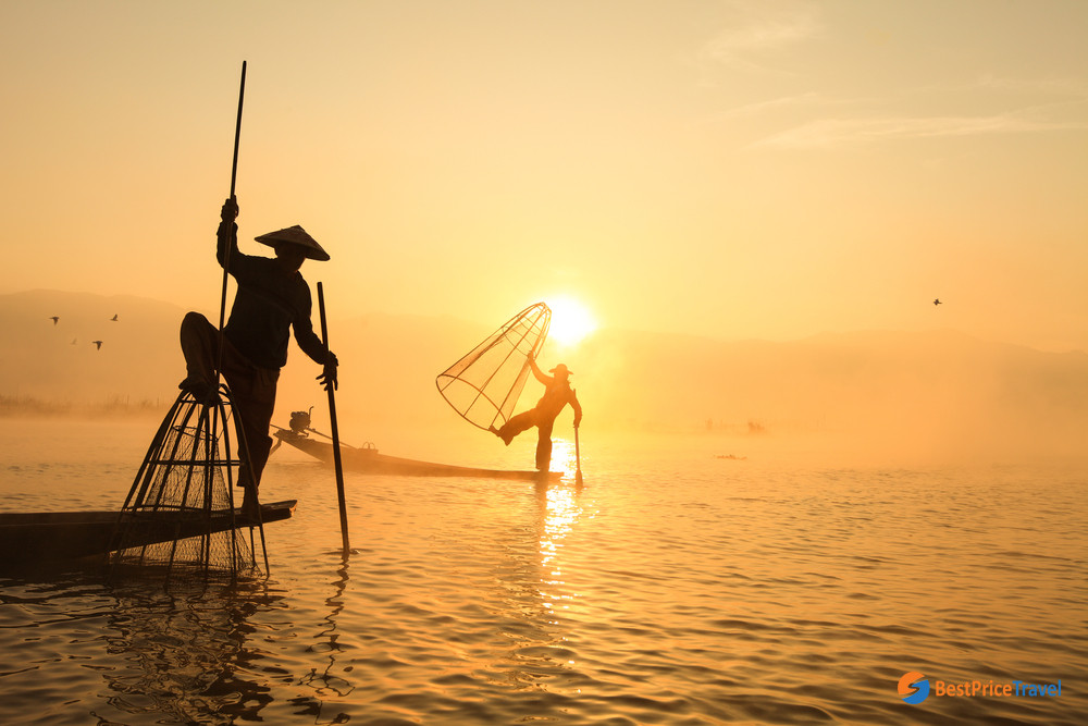 take a boat tour to discover the local life in Myanmar's floating villages