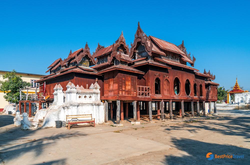 Shwe Yan Pyay Temple with distinctive oval windows