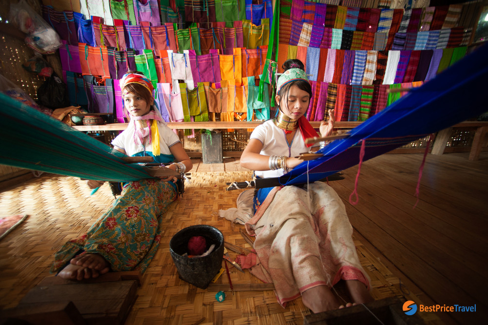 visit the long-necked Karen people in a tour to Myanmar's floating villages