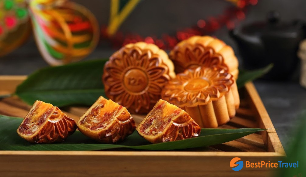 Traditional mixed filling of Vietnamese mooncakes