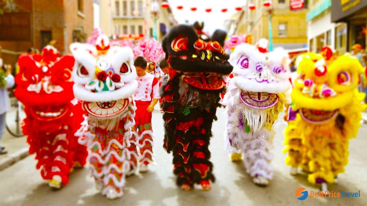 Lion Dance - Mid-Autumn Festival