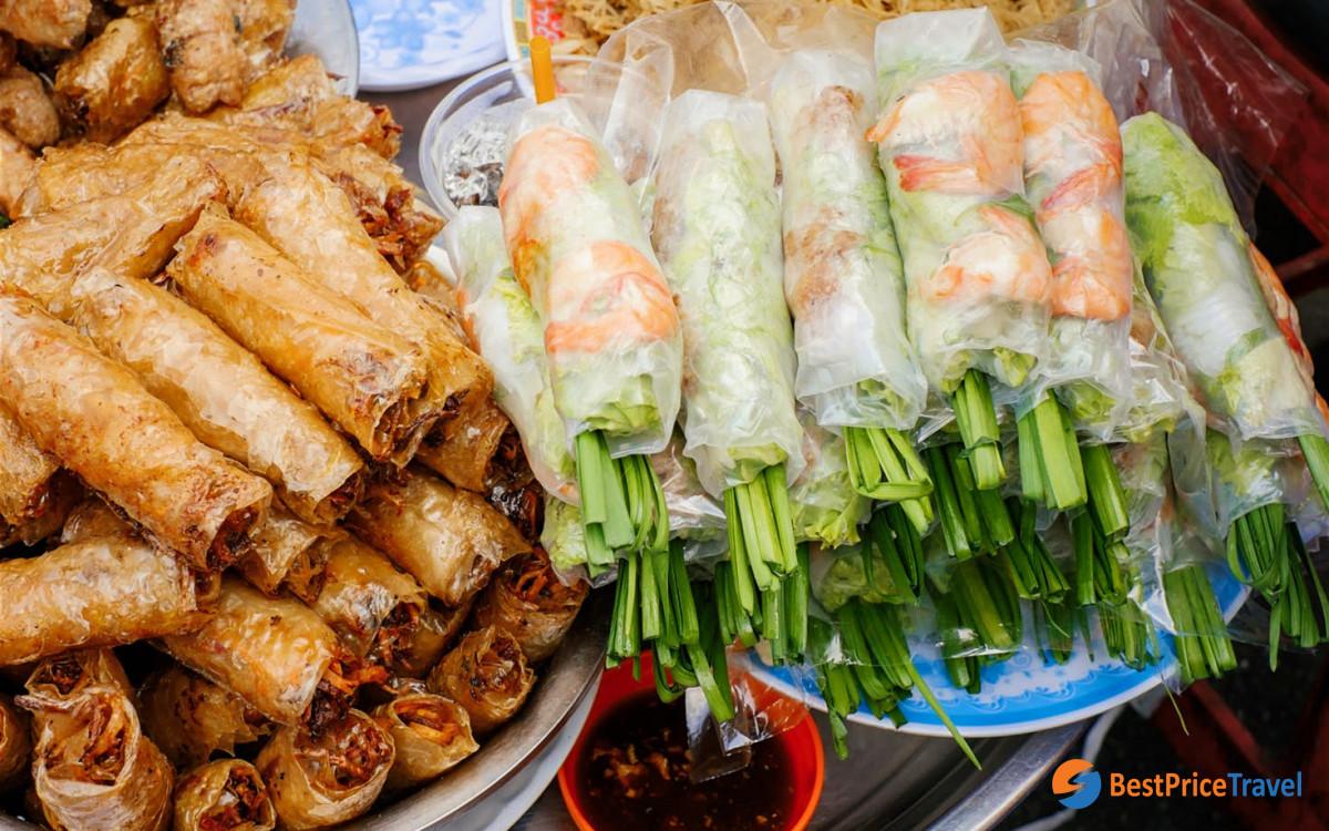 Goi Cuon - Spring Roll in Vietnam Mekong Delta