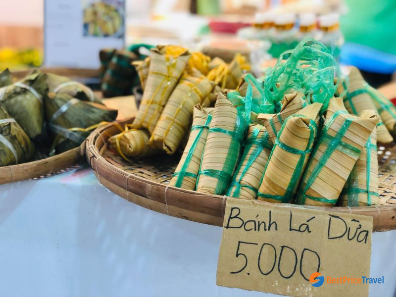 Banh la dua is very popular in Mekong Delta