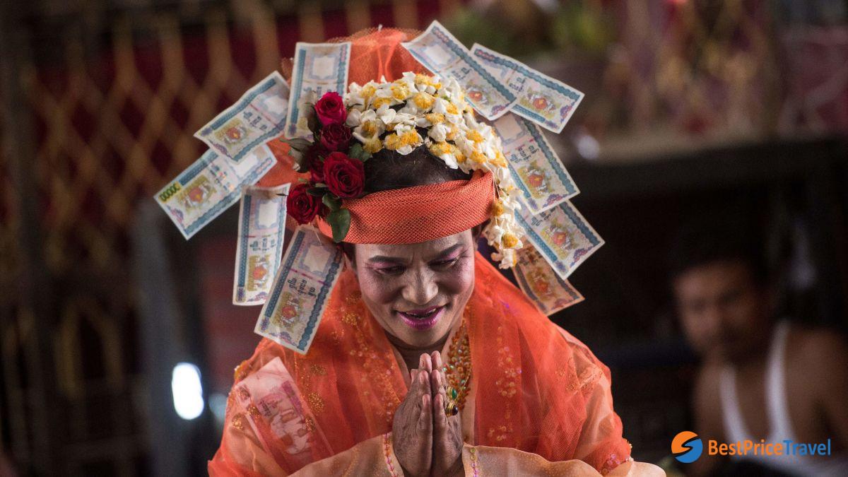 Nat Kadaw - Taungbyone Nat Festival in Myanmar