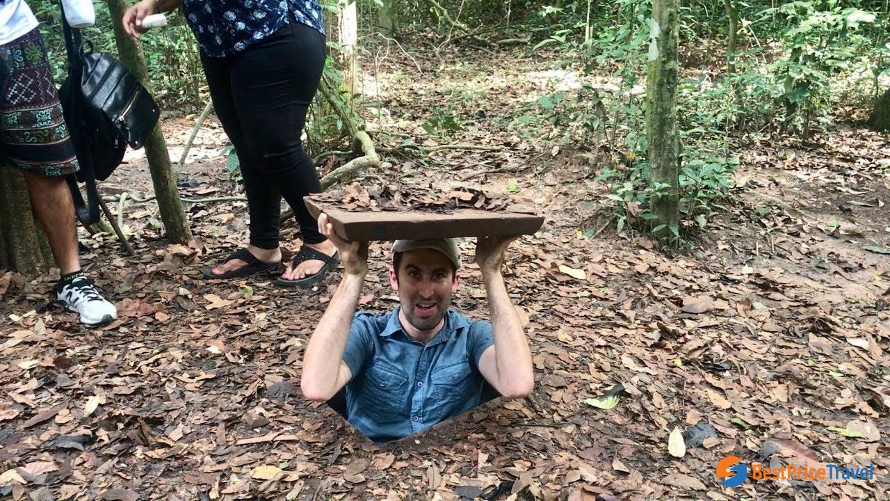 The Cu Chi Tunnels is a complex of underground tunnels