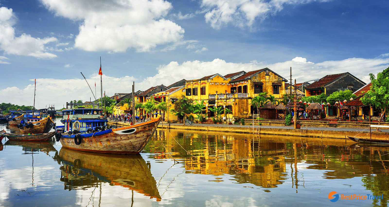 Hoi An is a small and quiet town