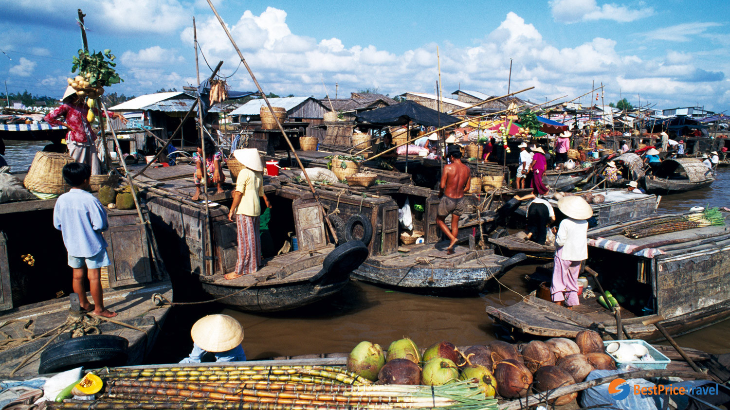 Cai Rang is the most famous floating market in Vietnam