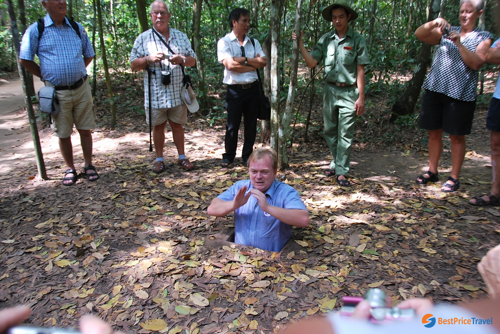 Cu Chi tunnels are a complicated underground tunnel system