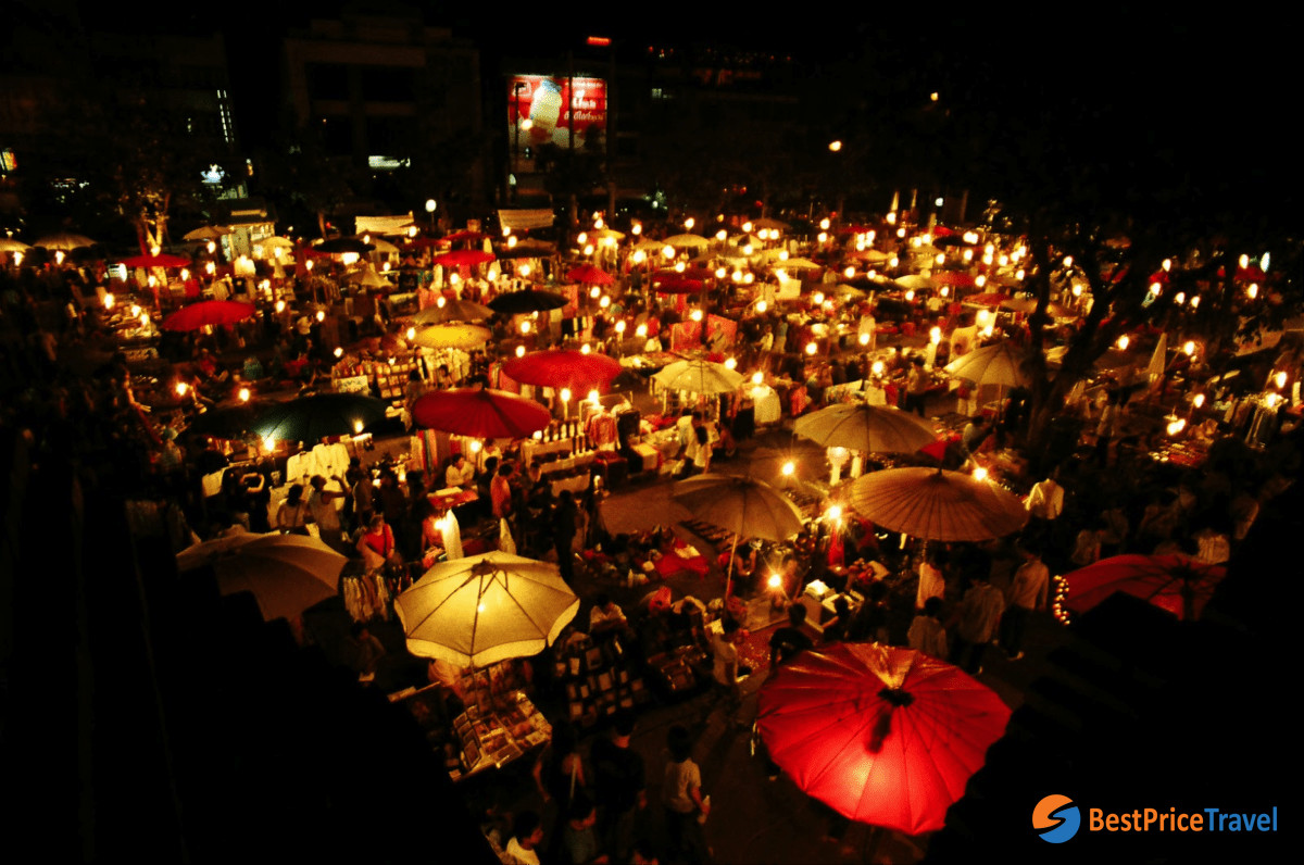 Sunday Night Market - one of best things to do in Chiang Mai