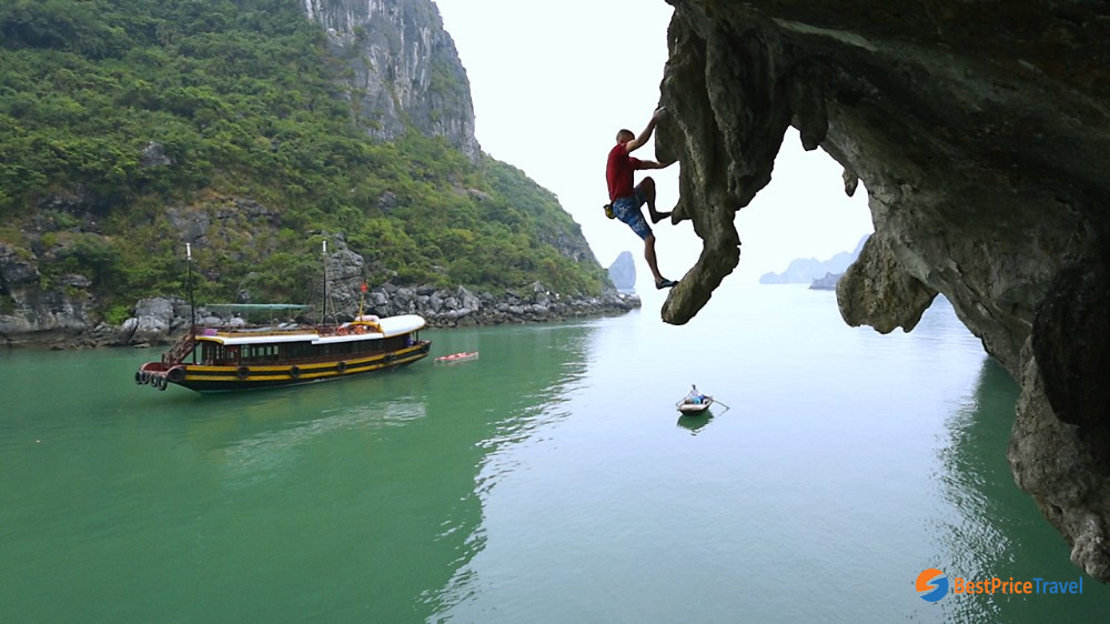 Rock Climbing - Things to Do in Halong Bay