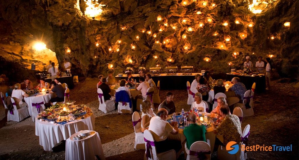 Dinner in Cave - Things to Do in Halong Bay