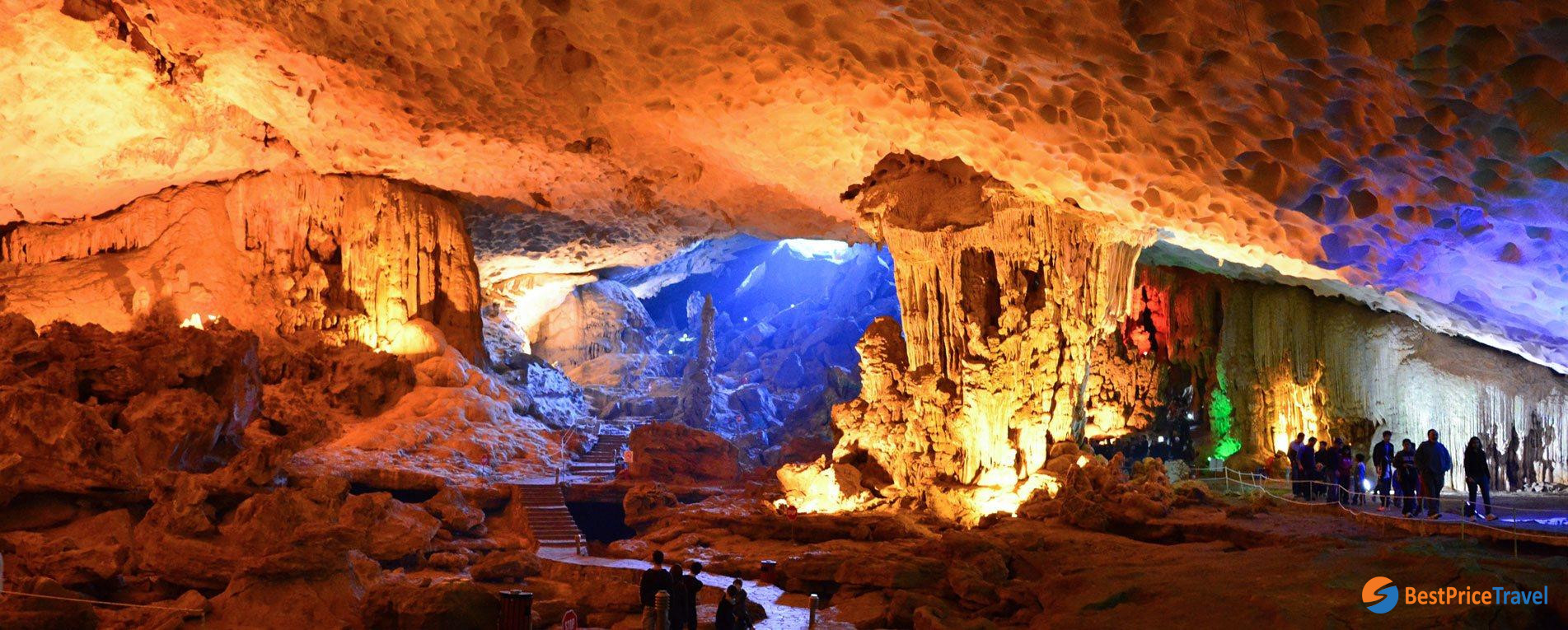 Sung Sot Cave - typical destination for 2d1n tour in Halong Bay