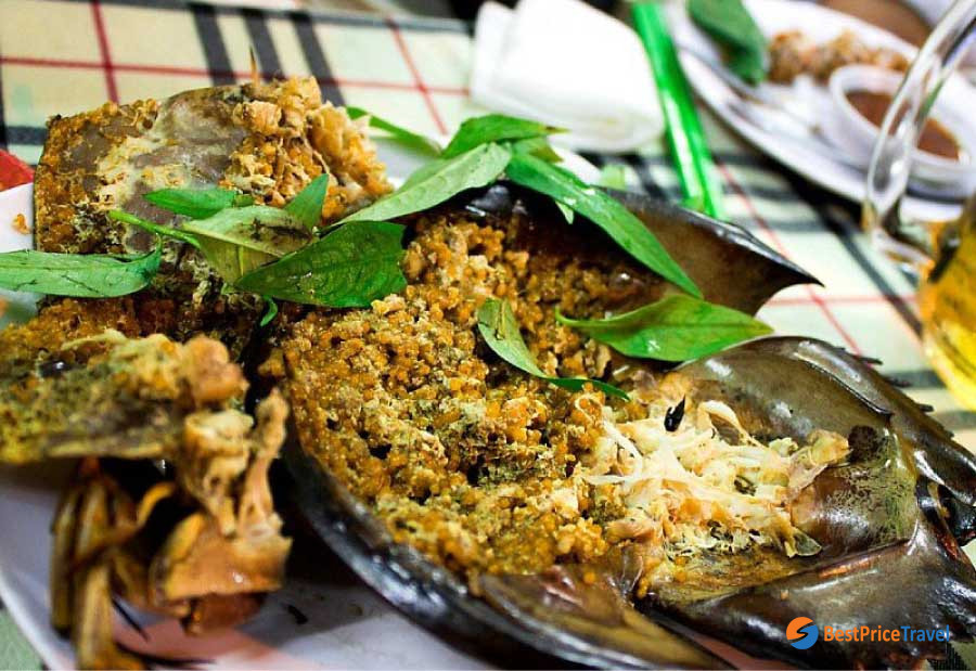Street Foods in Halong Bay - Horseshoe Crab