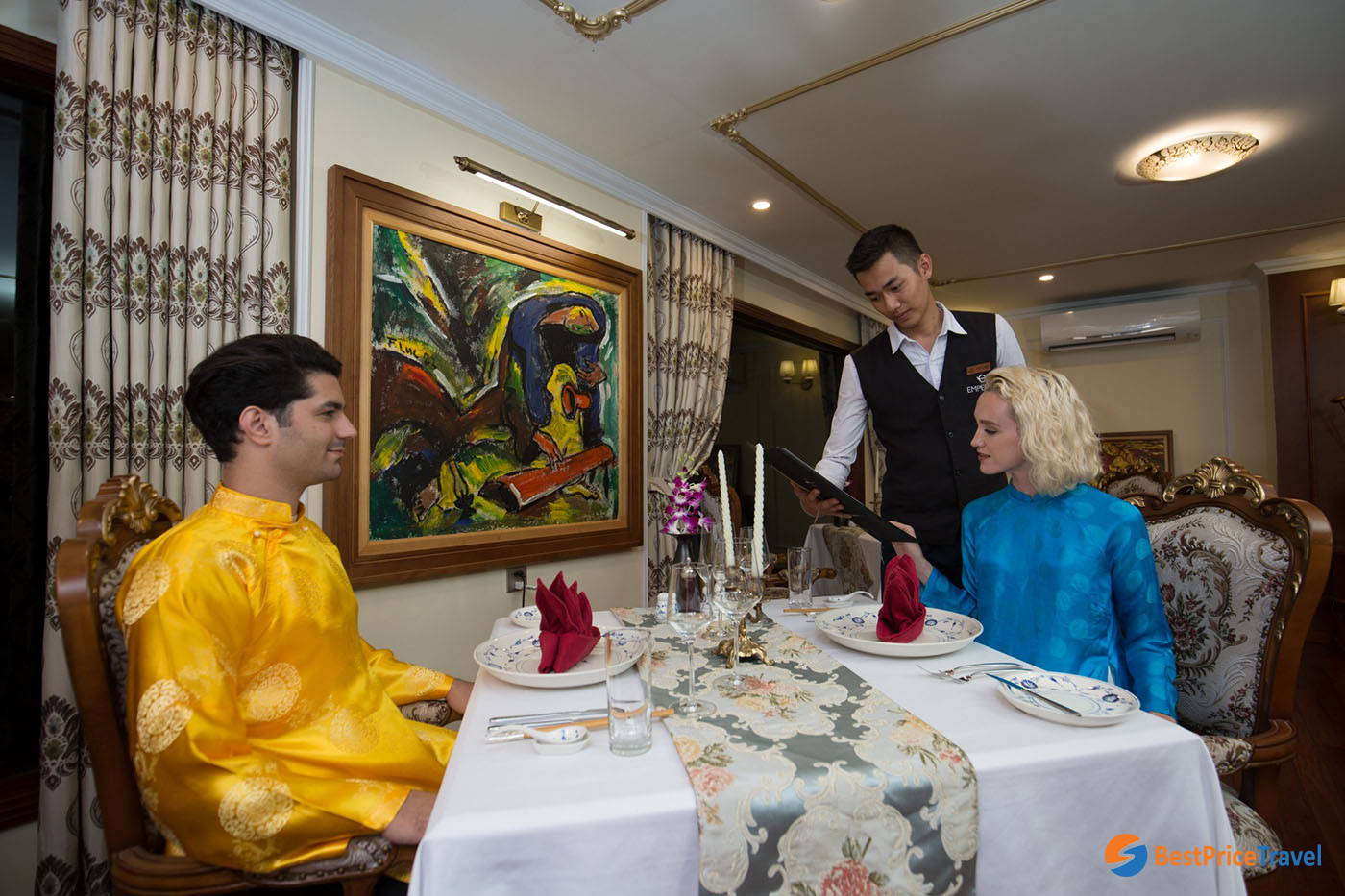 Royal Dinner on a 3-day Halong Bay Cruise