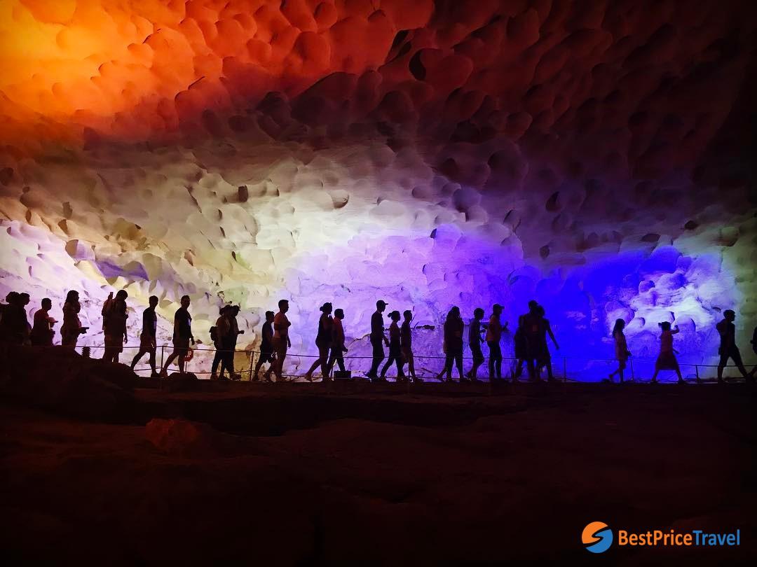 Awe-inspiring shoot in Sung Sot Cave