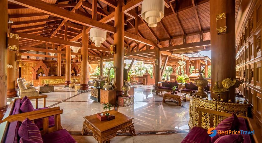 Historical Bagan Temple design in Heritage Bagan Hotel
