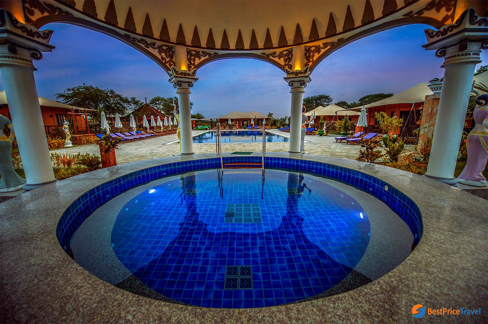 Stunning pool spreading in the heart of Bagan Lodge