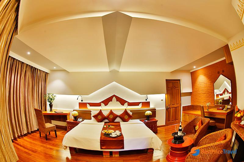 Hotel room at Ananta Bagan