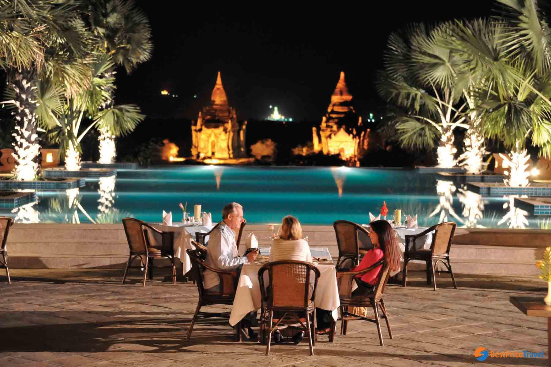 Enjoy dinner at Aureum Palace Hotel & Resort Bagan