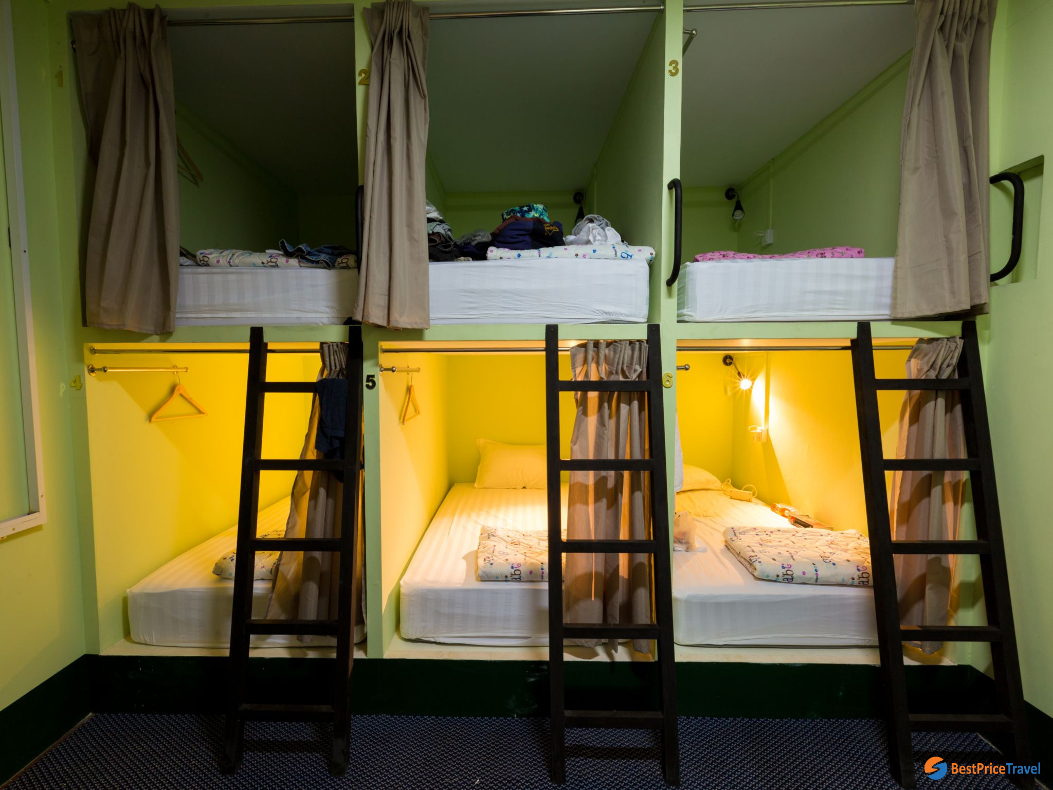 Dorm bed at Little Monkey Hostel