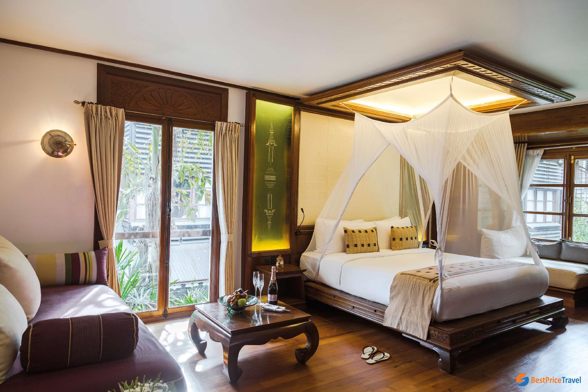 luxury room of Belmond Governor's Residence