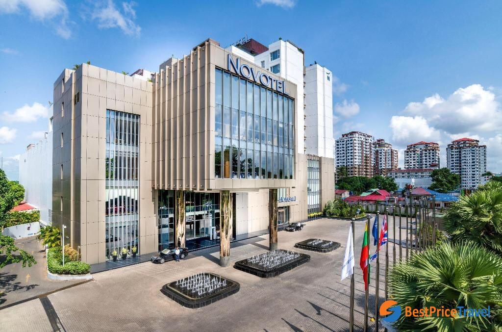 The perfect location of Novotel Yangon Max
