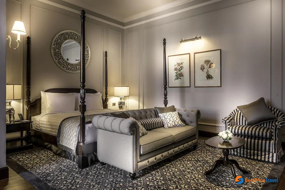 Luxury room at The Strand Yangon Hotel
