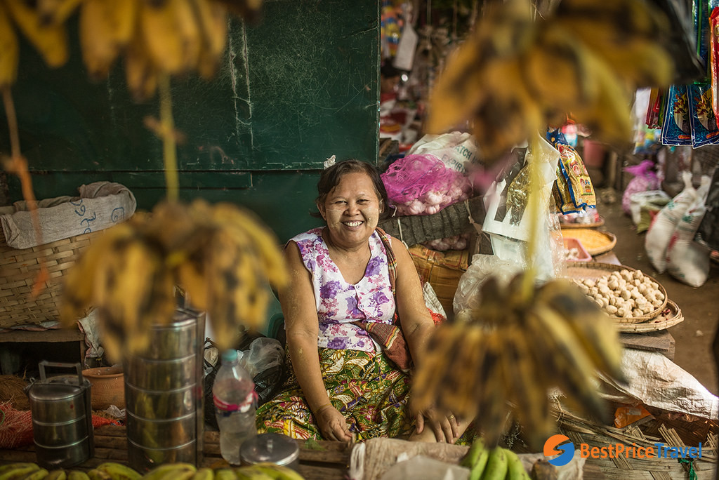 Visiting local market is a must-do to get deep insight of Myanmar