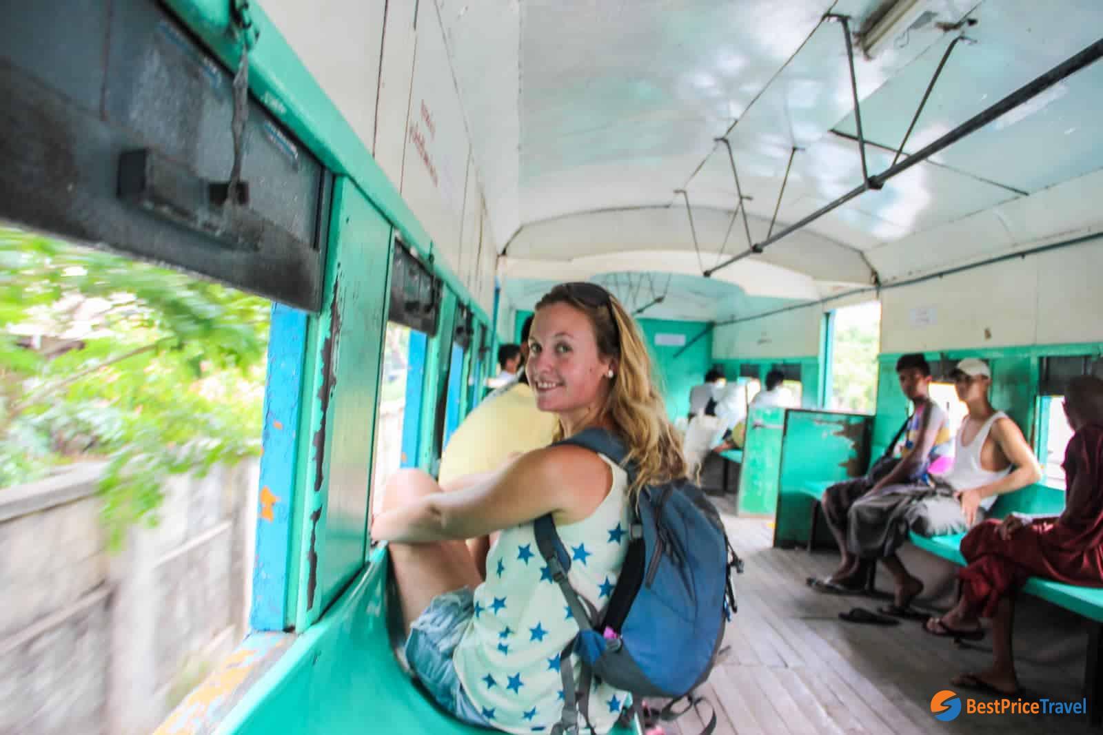 Try a ride of circular train in Yangon