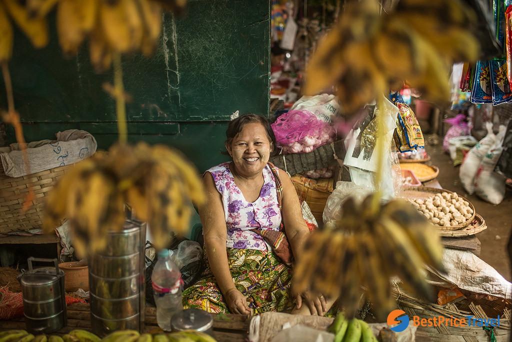 Nyaung U Market must visit in Bagan