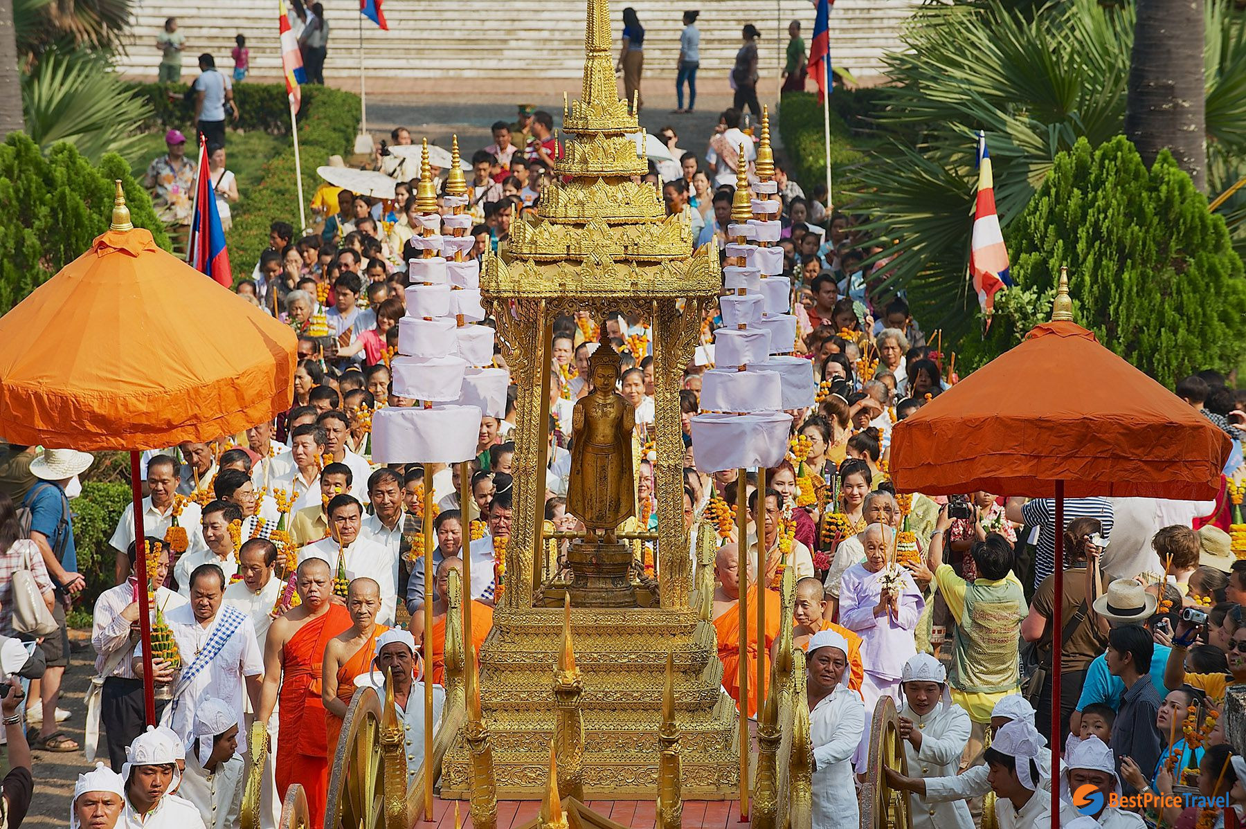 Luang Prabang is the most exciting place to celebrate Boun Pi Mai in Laos