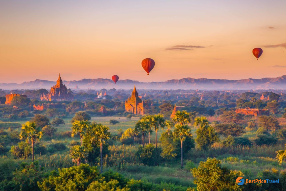 air balloon ride is the best way to admire the beauty of Bagan