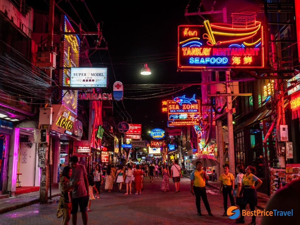 Finish one day in Pattaya at walking street