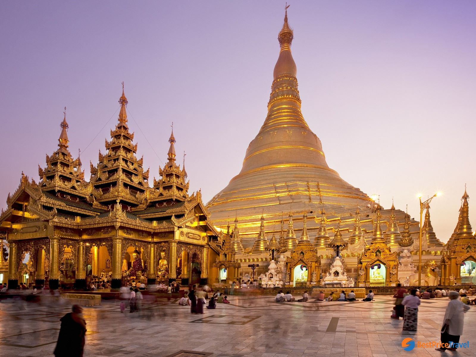 Shwedagon Pagoda is the main highlight of one day trip in Yangon