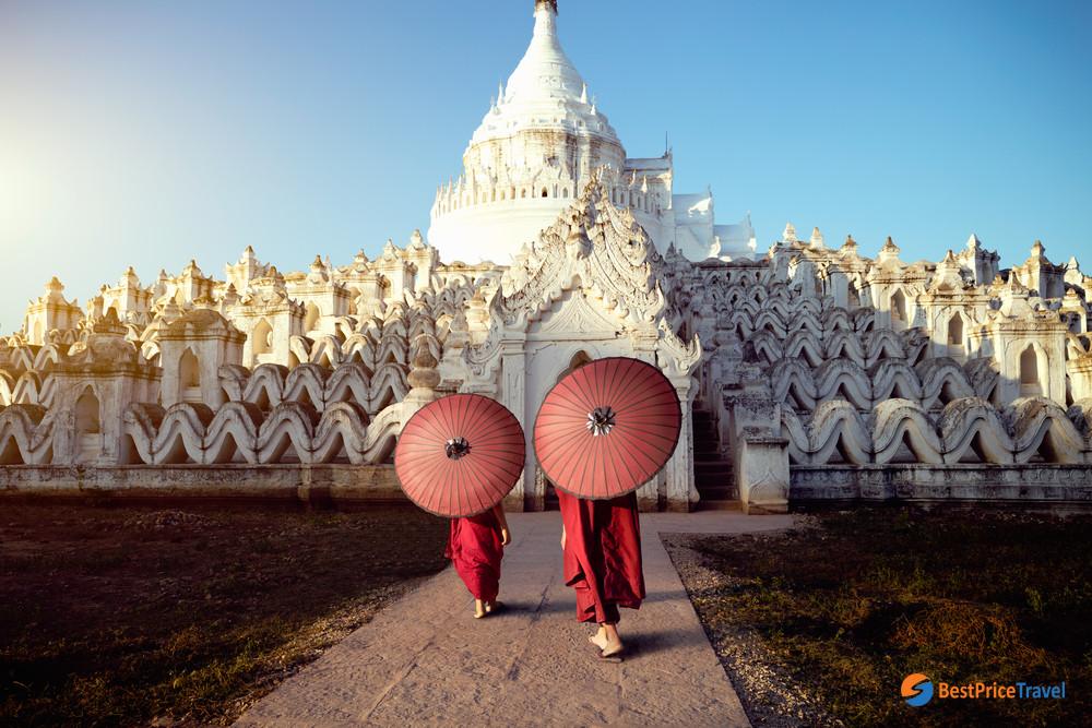 Hsinbyume Pagoda in Mingun, Mandalay