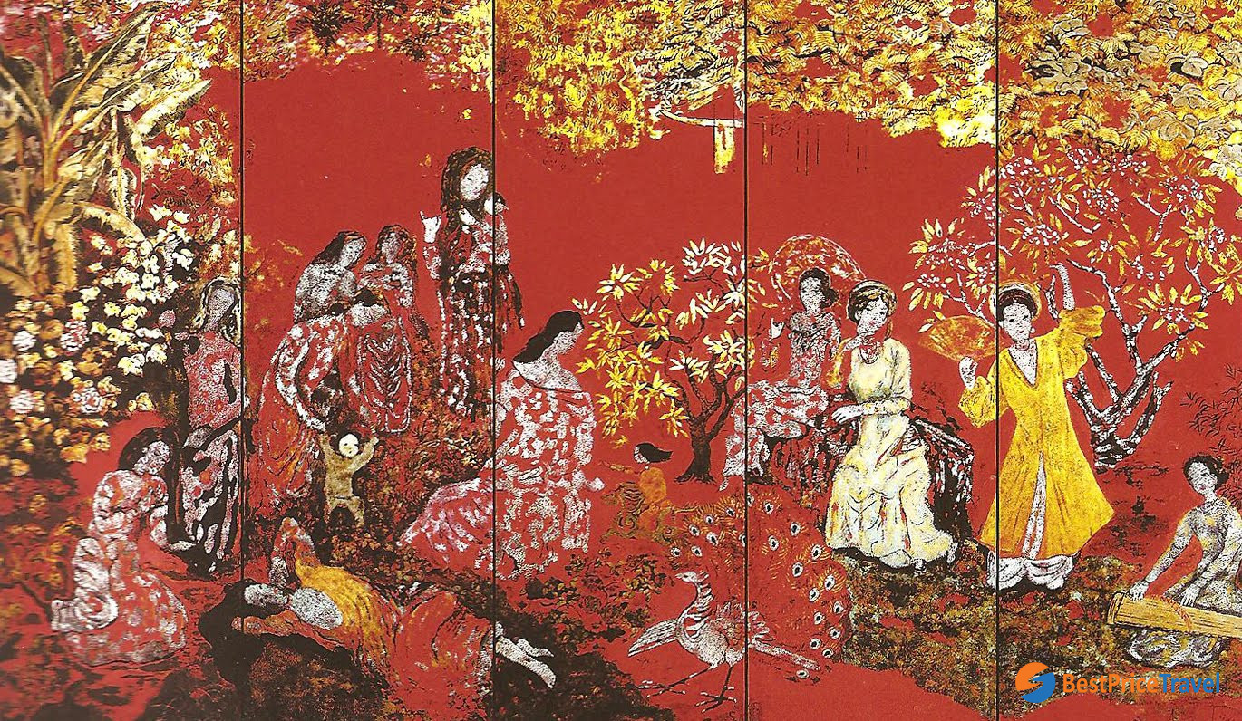 A typical lacquer painting