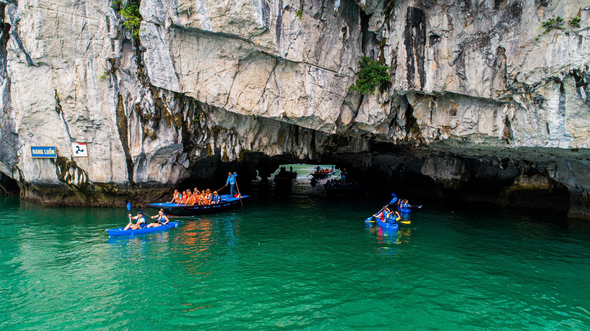 Kayaking in Luon cave Halong Bay