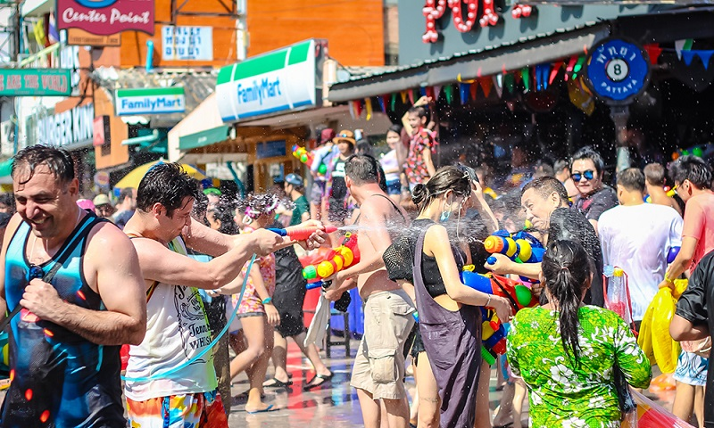 Many people visit Chiang Mai during Songkran Festival