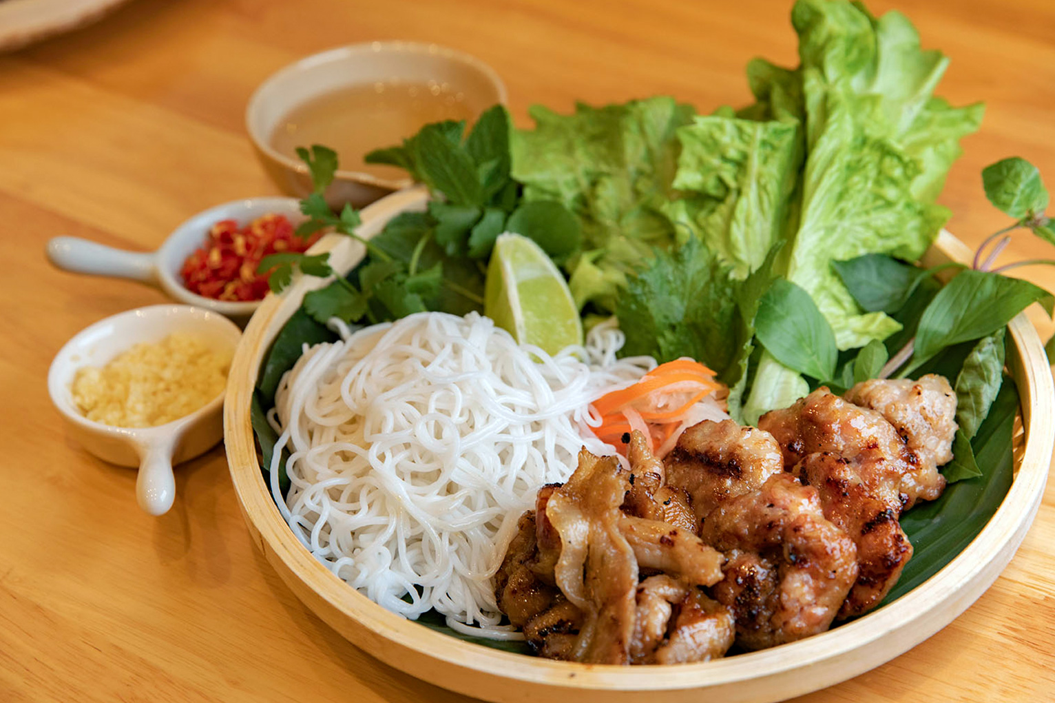 Vietnamese Grilled Meat Noodle - Top 30 famous Vietnamese food