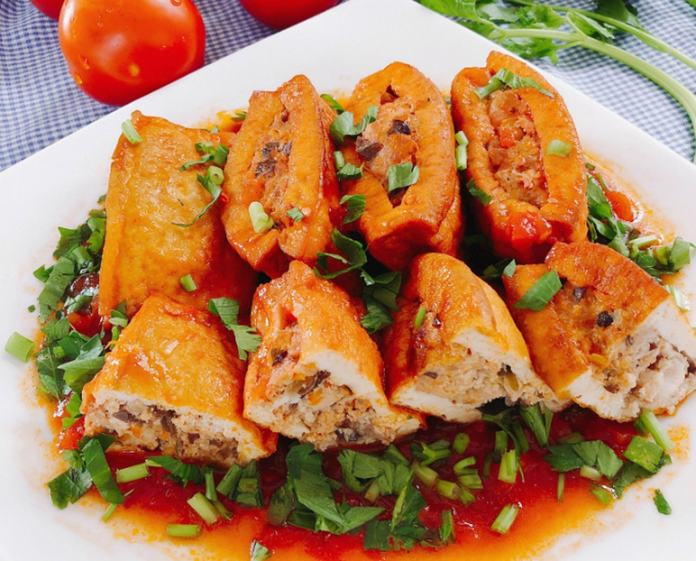 Tofu in Tomato Sauce - Top 30 famous Vietnamese food
